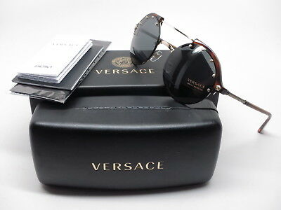 1cedae899d Versace VE 4337 260 87 Pale Gold   Yellow Havana with Grey Sunglasses