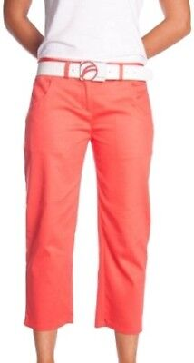 (Size 14, Coral) - Fayde capri pant Women's trousers. Huge Saving
