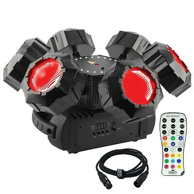 Chauvet DJ Helicopter Q6 Rotating Multi-Effect Light + Infrared Remote Control