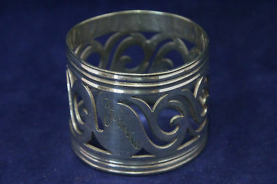 Antique Silver Plate Napkin Ring Holder - Thomas Prime - Circa 1818-1900