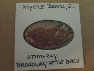 elongated souvenir penny myrtle beach sc stingray broadway at the beach