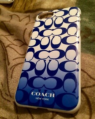 Coach Ombré Blue Signature Phone Case New! Hard Case For iPhone 7 LAST ONE
