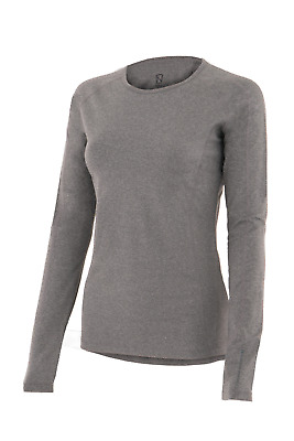 Noble Outfitters Hailey Womens Long Sleeve Crew Top - Heather Grey