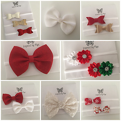 Newborn Baby Toddler Girl Bow Headband Nylon Hair Band Accessories