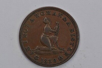 Am I Not A Woman & A Sister Hard Times Token HT81 .99c NO RESERVE