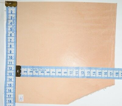 4Mm - 4.5Mm Thick Natural Veg Tan Craft Leather Hide Small Pieces