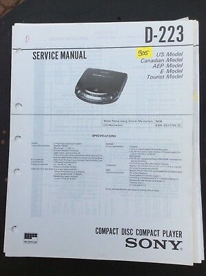 Sony D-223 CD Player Service Manual