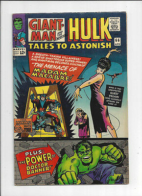 Tales to Astonish #66/Silver Age Marvel Comic Book/Incredible Hulk/FN+