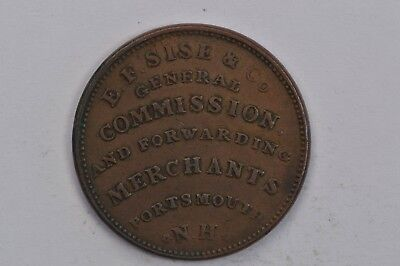 1837 EF Sise & Co Porstmouth NH Hard Times Tokens  HT195 .99c NO RESERVE