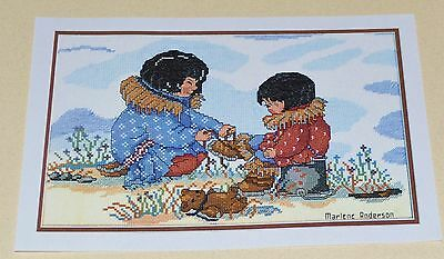 ALASKAN CROSS STITCH KIT designed by Marlene Anderson. Rare to find in Australia