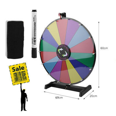 "24"" Color Prize Wheel Fortune Folding Floor Stand Carnival Spinnig Game WN"