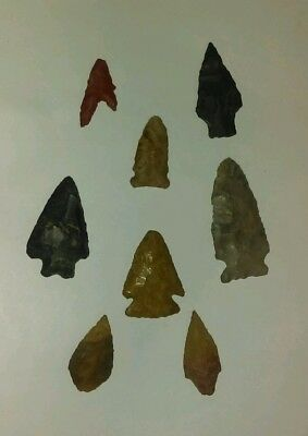 Indian artifacts Arrowhead points