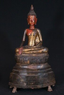 Large 17th Century Bronze Buddha Statue From Laos | Antique Buddha Statues