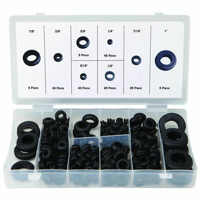 180pc Rubber Grommets Kit Plug Wire Ring Assortment Set Electrical Gasket Tools