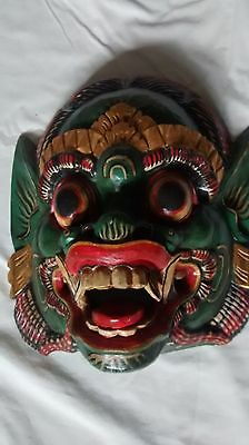 Indonesia Barong Hand Carved Wall Mask