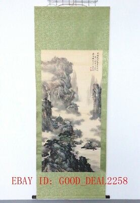 Large CHINESE Watercolor Painting Hand Painted landscape  FG45 SIZE:1780mmx680mm