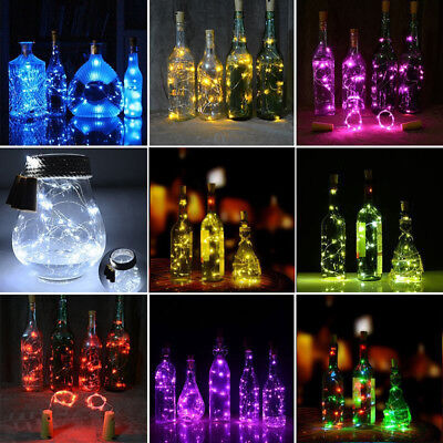 Modern 1.9M 20 LED Cork Shape String Fairy Night Light Wine Bottle Lamp Battery