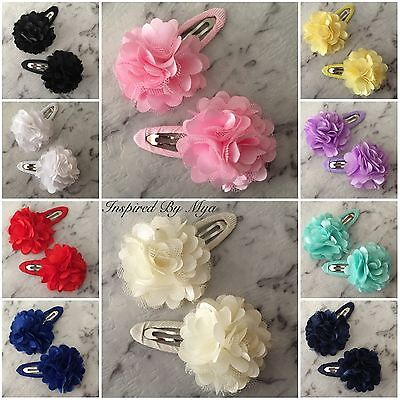 Girl Baby Toddler Ladies Hair Clip Accessories School Party 3D Flower Snap Clip