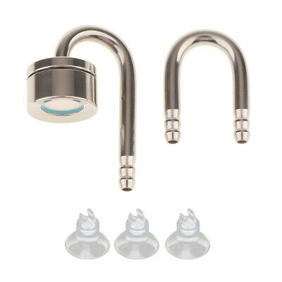 Aquarium Tank Stainless Steel CO2 Diffuser with U-Shape Connecting Tube Pipe