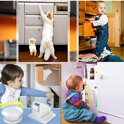 Baby & Child Proof Cabinet & Drawers Magnetic Safety Locks Set of 8 with 2 Keys