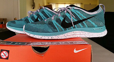 wholesale outlet super cheap online shop NIKE FLYKNIT ONE One+ Sport Turquoise 554887 301 Black Wolf ...