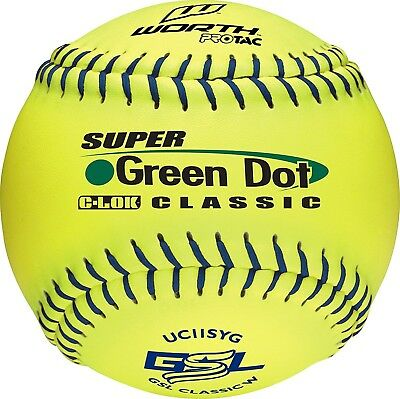 Worth GSL Slow-Pitch Pro Tac Classic Soft Balls, 28cm (Dozen). Delivery is Free