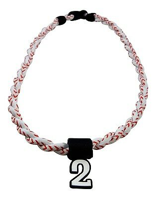 (Baseball Stitch) - Pick Your Number - Twisted Titanium Sports Tornado Necklace