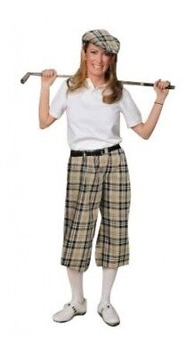 (12, Khaki Plaid) - Women's Turnberry Plaid Golf Knickers. Kings Cross Knickers