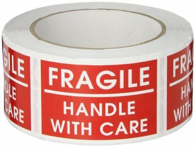 Caution Stickers FRAGILE HANDLE WITH CARE Labels Tape Roll Packing Shipping Tag