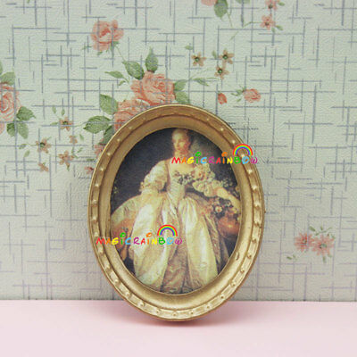 Lady Painting Picture Frame Art for Dolls Barbie Dollhouse Miniature 1:12