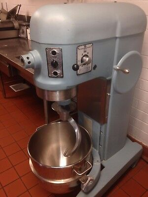 Hobart H600T 60 Qt Mixer w/ Stainless Bowl, Dough Hook + Wisk