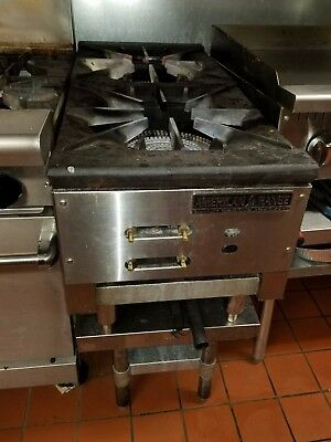 American Range Arsp-18-2 Commercial Two-Burner Heavy Duty Stock Pot Gas Range