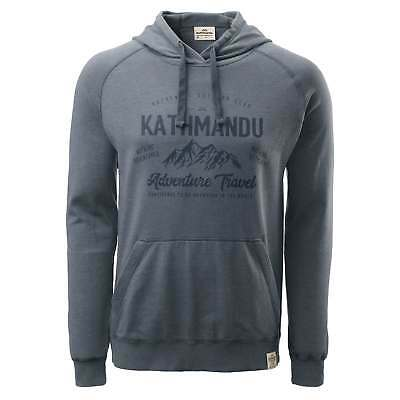 Kathmandu Mens Earth Hooded Pullover Jumper Hoodie Top Blue