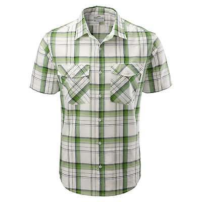 Kathmandu Expedite Mens Organic Cotton Blend Short Sleeve Travel Shirt v2 Green