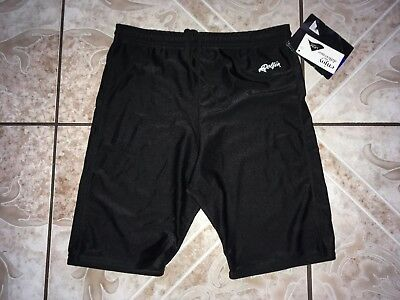 Unisex Dolfin Black Silky Nylon Lycra Running Shorts L Large Made in USA NWT