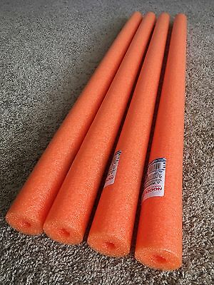 Lot 4x Orange Noodles Swimming Pool Noodle therapy water floating foam craft