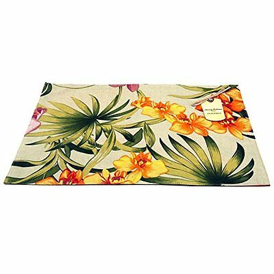 Tommy Bahama African Orchid, Pack of 4 Placemats, Linen, New, Free Shipping