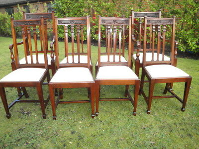 Set of 8 eight superb Edwardian mahogany dining chairs.