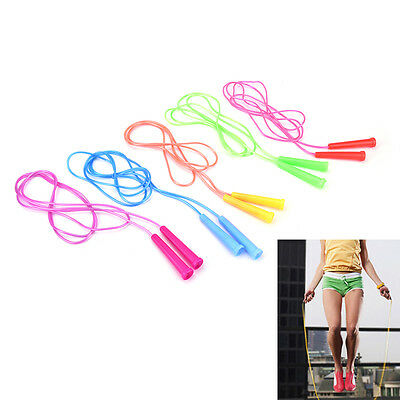 2.4M Wire Speed Skipping Jump Rope Adjustable Fitnesss Exercise Equipment BDAU