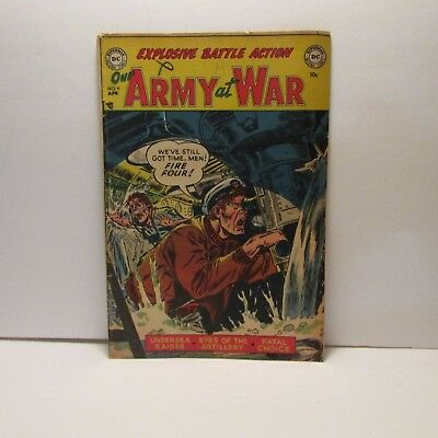 Our army at war #9 1953 golden age comic original DC printing,choice
