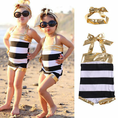 AU Stock 2pcs Kids Girls Swimmable Mermaid Bikini Swimwear Swimming Costume Set