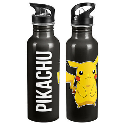 POKEMON GO Pikachu Aluminium drink bottle Plastic sipper bottle top School Gift