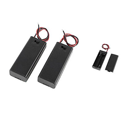 2 x 2 x AAA 3 V Battery Holder Case Box Wire ON / OFF Switch m Cover New
