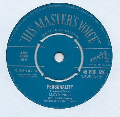 """Lloyd Price & His Orchestra - Personality - 7"""" Single"""