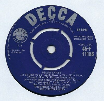 """Winifred Atwell - Piano Party - 7"""" Single"""