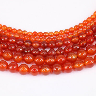 """Lots 15"""" Natural Red Agate Gemstone Loose Spacer Beads Jewelry Making DIY 4-10MM"""