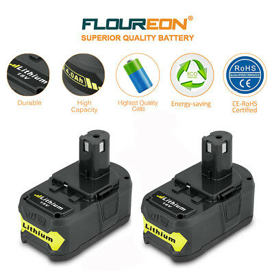 2x 4.0AH 18V Lithium Ion Battery for Ryobi P108 P100 P500 P600 One+ Plus RB18L40