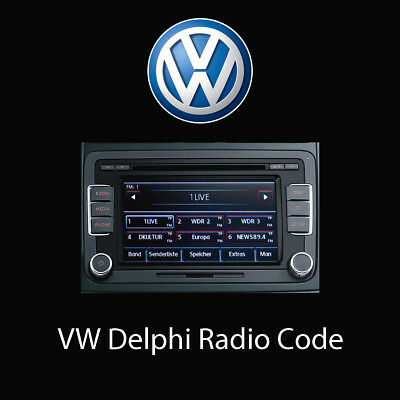 vw radio codes volkswagen code decode unlock fast eur 11 39 picclick ie. Black Bedroom Furniture Sets. Home Design Ideas