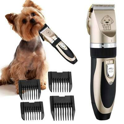 Professional Trimmer Electric Dog Hair Fur Remover Cutter Shaver Grooming Kit UK