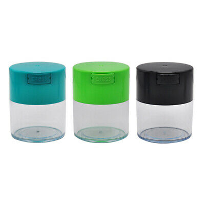 1 X Vacuum Sealed Stash Jar Acrylic Grains Herb Spice Container Storage Bottles